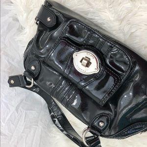 Black leather Franco Sarto purse